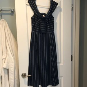WAYF Off the Shoulder Midi Dress, Size L